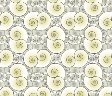 Patina Spiral fabric by joanmclemore on Spoonflower - custom fabric