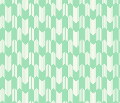 boho arrows - small - mint fabric by fable_design on Spoonflower - custom fabric