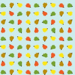 Hedgehog Rows - Blue Background