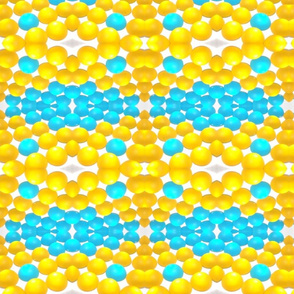Glowing Spots of Lemon Yellow and Cerulean Blue