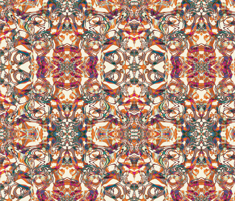 Foxy Abstract, S fabric by animotaxis on Spoonflower - custom fabric