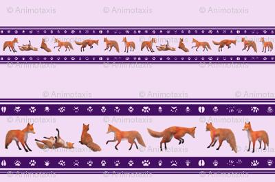 Red Fox Border, Purple