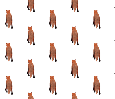 Red Fox Tail, L fabric by animotaxis on Spoonflower - custom fabric