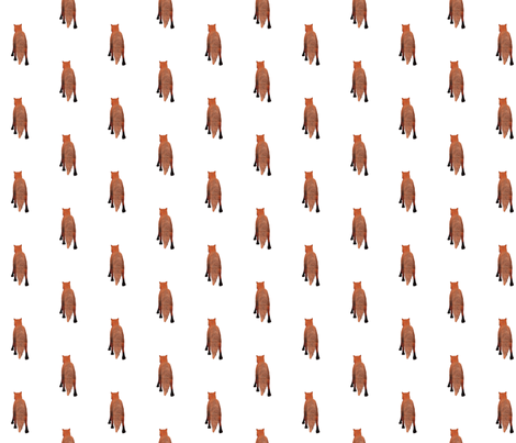 Red Fox Tail, S fabric by animotaxis on Spoonflower - custom fabric