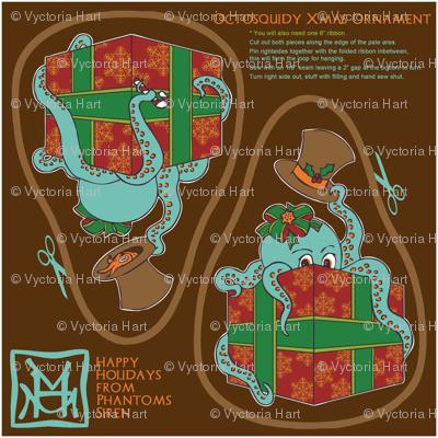 OctoSquidy Xmas Ornament
