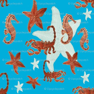 Starfish and friends-blue