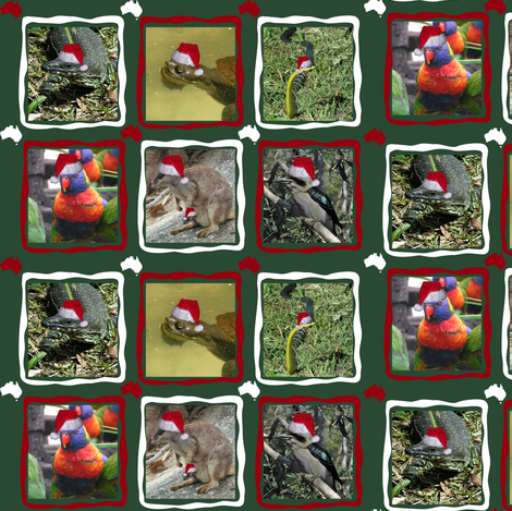 Christmas Animals fabric by upcyclepatch on Spoonflower - custom fabric