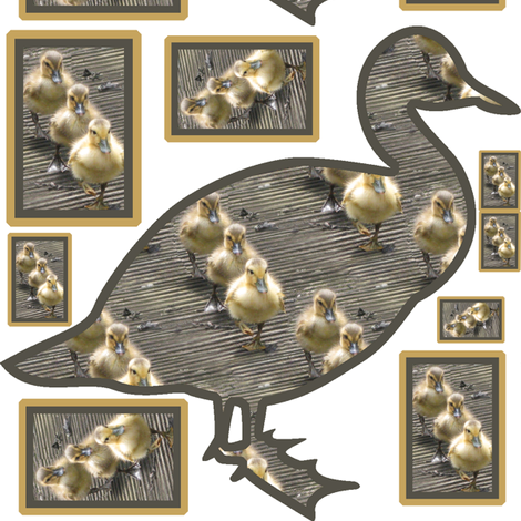 3 Little Duck Patch selection fabric by upcyclepatch on Spoonflower - custom fabric