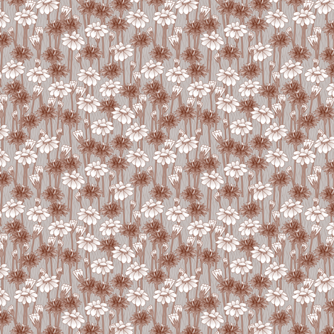 bachelor_buttons_and_graymaroon fabric by glimmericks on Spoonflower - custom fabric