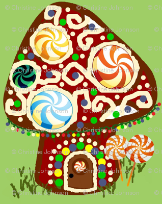 Gnomeland gingerbread house