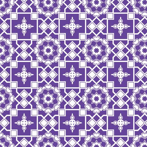 White Hearts In My Purple Window. fabric by rhondadesigns on Spoonflower - custom fabric