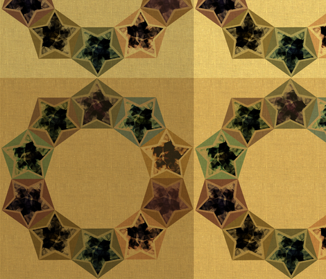 Star Wreath on checks fabric by meredithjean on Spoonflower - custom fabric