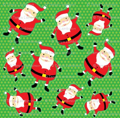 Green Jolly Santa