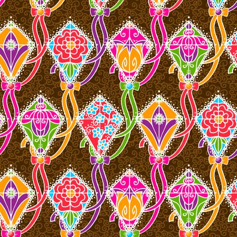 Lacy Kite Garden fabric by siya on Spoonflower - custom fabric