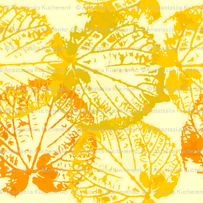 seamless watercolour/vector leaves