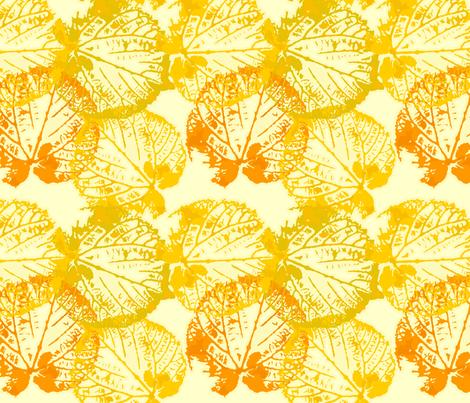 seamless watercolour/vector leaves fabric by anastasiia-ku on Spoonflower - custom fabric