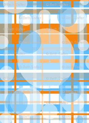 Bubbles of Orange, Grey, Blue