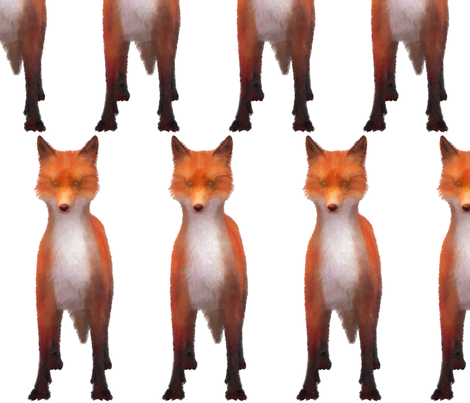 Red Fox Stare, L fabric by animotaxis on Spoonflower - custom fabric