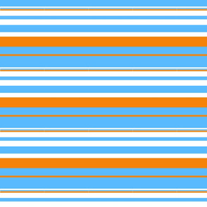 Blue and Orange Stripe