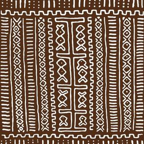 Mudcloth Dark Brown