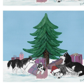 Xmas 20x16 Mauve Christmas Tree