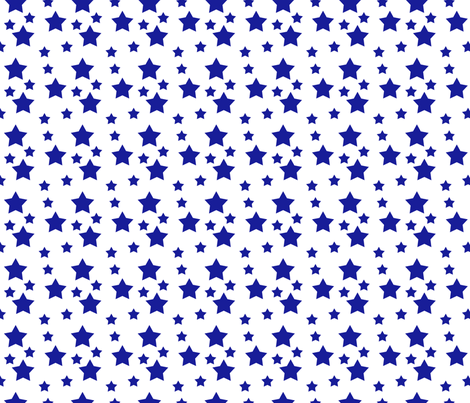 Navy Star fabric by sheila's_corner on Spoonflower - custom fabric