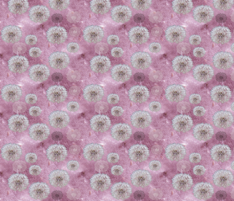 Fluff and Fairy Puffs - but where are the fairies fabric by upcyclepatch on Spoonflower - custom fabric