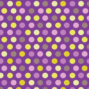Dots - aubergine