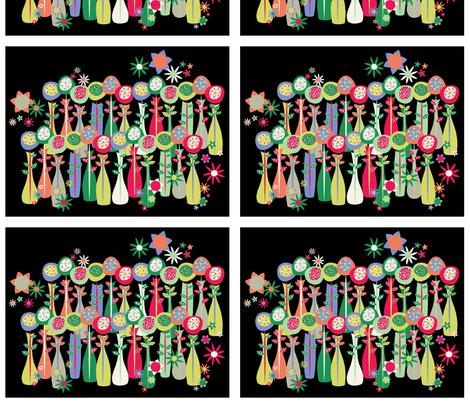 Flower Vase Portrait fabric by mktextile on Spoonflower - custom fabric