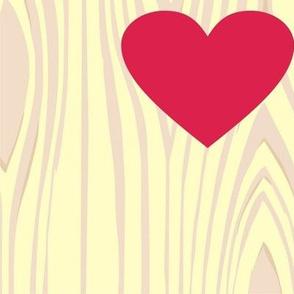 wood grain heart