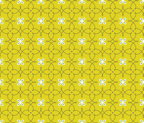 Fine Curves gold - aubergine fabric by kayajoy on Spoonflower - custom fabric