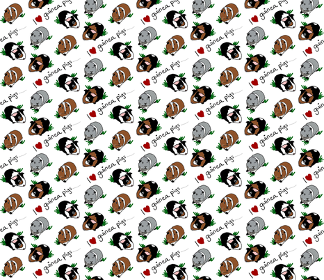 I love guinea pigs fabric by upcyclepatch on Spoonflower - custom fabric