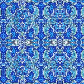 Blue Paisley Leaf Thing