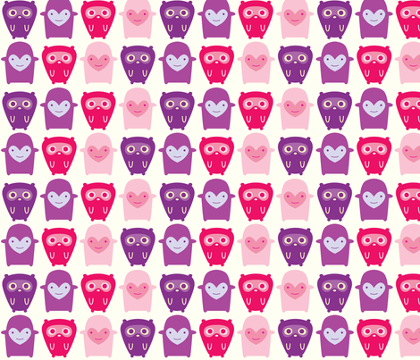 Little Girl Monsters fabric by nerida_jeannie on Spoonflower - custom fabric
