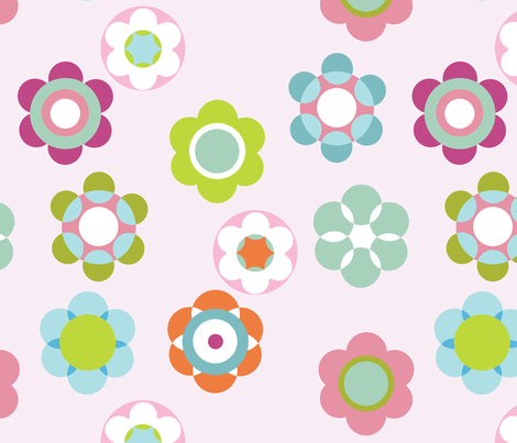 Bloompink fabric by flowerpress on Spoonflower - custom fabric