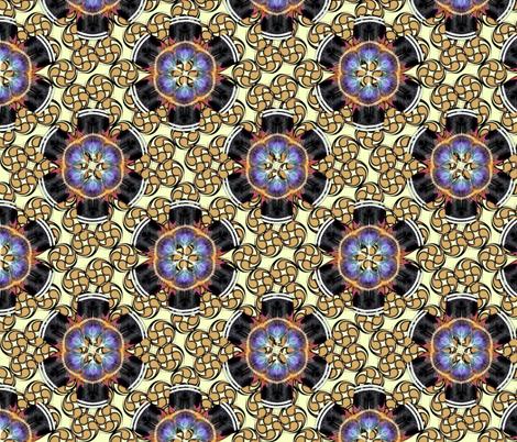 woodduck_rosettes turkey fabric by glimmericks on Spoonflower - custom fabric