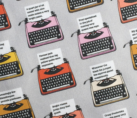 Pangram Typewriters* (Silkscreen) || vintage retro typewriters text typography poetry geek office
