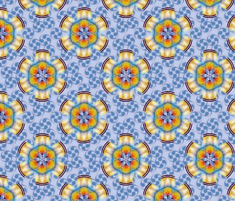 woodduck_rosettes cornflower fabric by glimmericks on Spoonflower - custom fabric