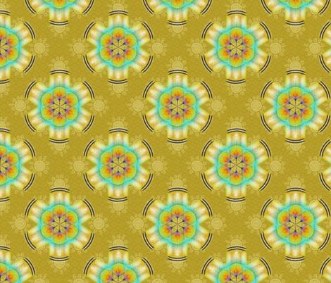 woodduck_rosettes corn fabric by glimmericks on Spoonflower - custom fabric