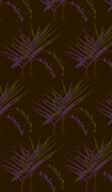 Sprigs - black fabric by bettieblue_designs on Spoonflower - custom fabric