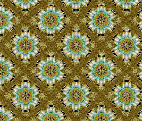 woodduck_rosettes toast fabric by glimmericks on Spoonflower - custom fabric