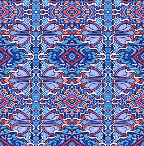 Retro Diamonds in Blue fabric by edsel2084 on Spoonflower - custom fabric