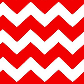 Red Chevron Fabric