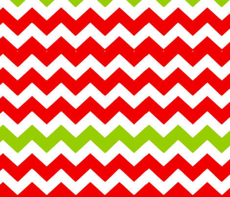 Red and Green Chevron fabric by lil_bunky_designs on Spoonflower - custom fabric