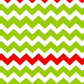 Green and Red Chevron