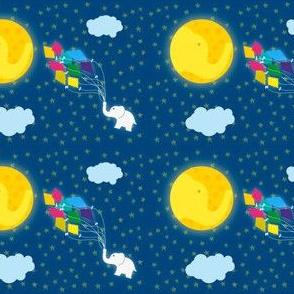 Moon Elephant Kite