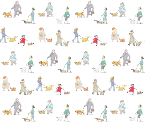 paseando_al_perroacoplado fabric by marpez on Spoonflower - custom fabric