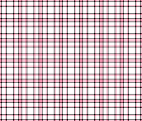 pink black plaid fabric by suziedesign on Spoonflower - custom fabric