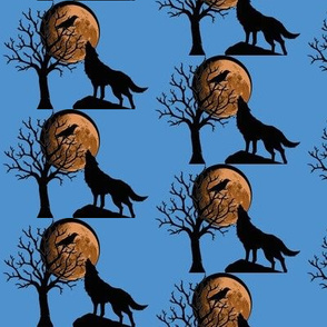 Wolf_and_Raven_with_Moon-Medium_Blue