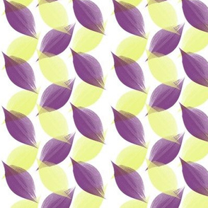 Leaf Strokes in Lemon and Plum